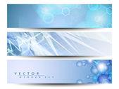 Conjunto de médicos banners o cabeceras de página web. eps 10. — Vector de stock