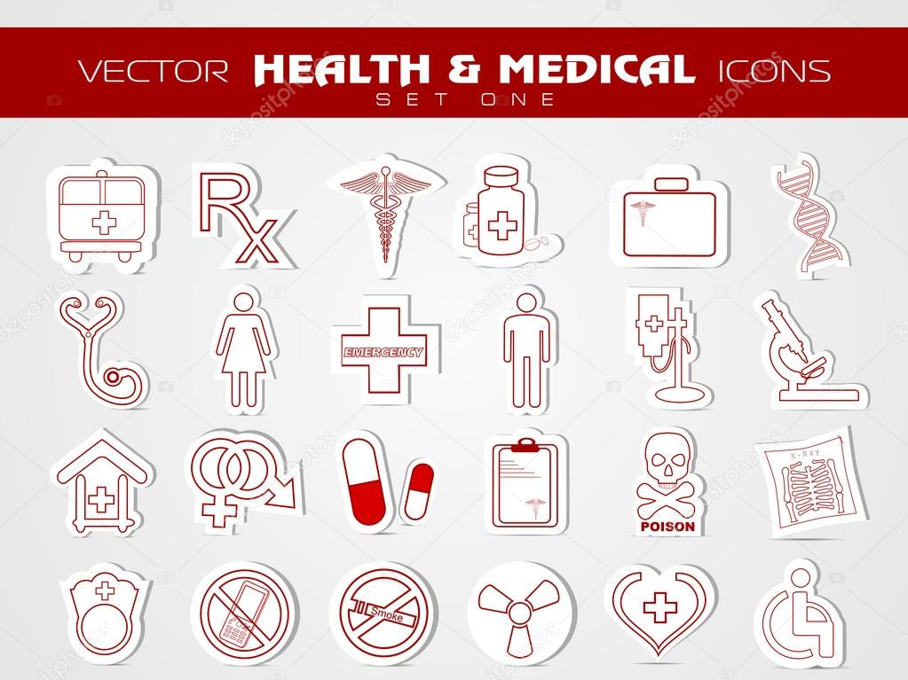 Medical icons set. EPS 10.  Stock Vector #12447732
