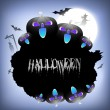 Scary Halloween background. EPS 10. - Stock Vector