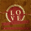 Abstract retro background with shiny text love. EPS !0. - Image vectorielle