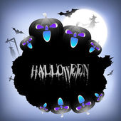 Scary Halloween background. EPS 10. — Stock Vector