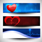 Set of medical banners or website headers. EPS 10. — Stock Vector