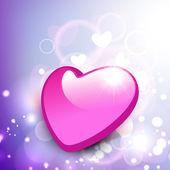 Coração dos namorados rosa brilhante no fundo brilhante. eps 10. — Vetor de Stock