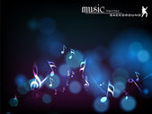 Abstract musical notes wave background. EPS 10. — Stock Vector