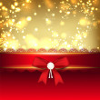 Royalty-Free Stock Vector Image: Shiny Merry Christmas greeting card with red ribbon. EPS 10.