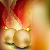 веселая рождественская открытка с золотой мяч рождество. eps 10 — Cтоковый вектор
