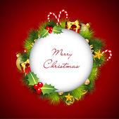 Frohe Weihnachten-Grußkarten. Eps 10. — Stockvektor