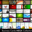 Elegant Abstract Vector Business Cards, Mixed Bag set in various — Stock Vector