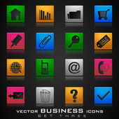 Vector business icon set on grey background. EPS 10. — Stock Vector