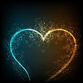 Láska koncept se srdcem. eps 10. — Stock vektor