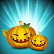 Halloween background with scary pumpkins. EPS 10. - Stock Vector