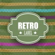 Grungy retro background with colorful lines and copy space for y — Stock Vector