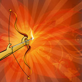 Dussehra background. EPS 10. — Vector de stock