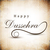 Greeting card for Dussehra celebration in India. EPS 10. — Cтоковый вектор