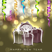 Happy New Year greeting card. EPS 10. — Stock Vector