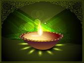 Hindu topluluk festival diwali veya dee güzel arka plan — Stok Vektör