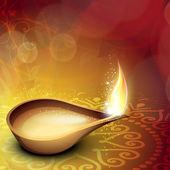 Piękne tło dla społeczności hinduskie święto diwali lub dee — Wektor stockowy