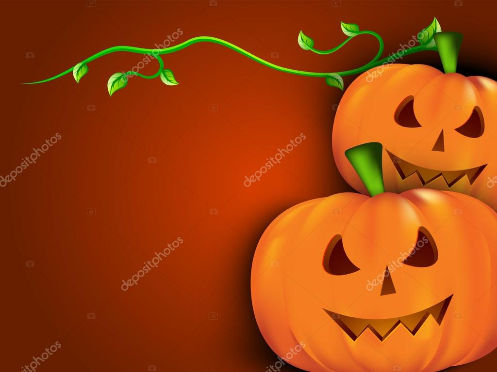 Halloween background with scary pumpkins. EPS 10. — Stock Vector #12653817