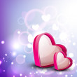 Valentine greeting card with heart and text love. EPS 10. — 图库矢量图片