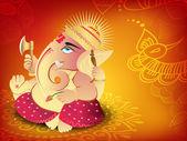 Illustration of Hindu Lord Ganesha. EPS 10. — Stock Vector