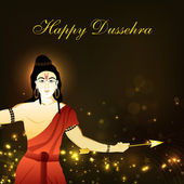 Dussehra festival background with Hindu God Shri Rama. EPS 10. — Stock Vector