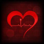 Symbol srdce a tep na odrazné plochy. eps 10. — Stock vektor