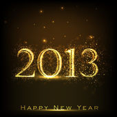 2013 Happy New Year greeting card. EPS 10. — Vector de stock