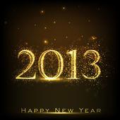 2013 glückliches neues jahr-grußkarte. eps 10 — Stockvektor
