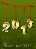 Carte de voeux de bonne année 2013. Eps 10. — Vecteur