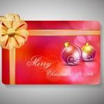 Merry Christmas gift card. EPS 10. — Stock Vector #13244437