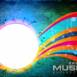 Abstract music background with floral wave background. EPS 10. — Stock Vector #13244662