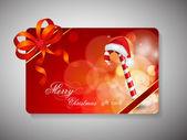 Merry Christmas gift card. EPS 10. — Stock Vector