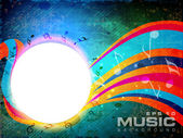 Abstract music background with floral wave background. EPS 10. — Stock Vector