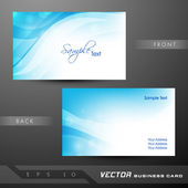 Abstract professional and designer business card template or vis — Cтоковый вектор