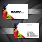Abstract professional and designer business card template or vis — Stockvektor