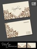 Abstrakte berufs- und designer visitenkartenvorlage oder vis — Stockvektor
