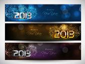 Website header of banner set versierd met 's avonds ballen, snowf — Stockvector