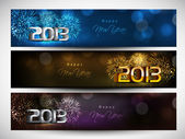Website header or banner set decorated with evening balls, snowf — Vettoriale Stock