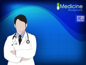 Health and medical background with Doctor (Male). EPS 10. — Stockvector