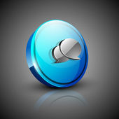 Glossy 3D web 2.0 messenger symbol icon set. EPS 10 — Vecteur