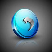 Glossy 3D web 2.0 left arrow symbol icon set. EPS 10. — Stock Vector