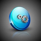 Glossy 3D web 2.0 settings symbol icon set. EPS 10. — Stock Vector