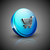 Glossy 3d web 2.0 shopping warenkorb symbol-icon-set. eps 10. — Stockvektor