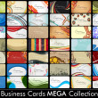 Stock Vector: Elegant Abstract Vector Business Cards, Mixed Bag set in various