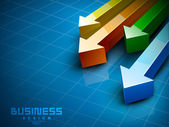 Abstract 3D statistics background, Business concept. EPS 10. — Vecteur