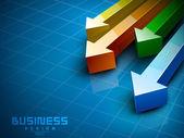 Abstract 3d statistieken achtergrond, bedrijfsconcept. eps 10. — Stockvector