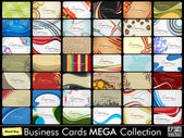 Elegant Abstract Vector Business Cards, Mixed Bag set in various — ストックベクタ