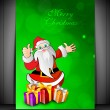 Santa with gifts for Merry Christmas. EPS 10. — Stock Vector #13351351