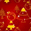 Seamless Merry Christmas background. EPS 10. - Stock Vector