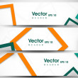 Website header or banner set with beautiful floral design. EPS 1 — Stock vektor